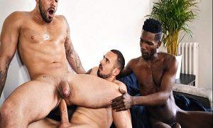 Damien Crosse 3some BLACK GAY