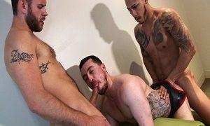 Chance Adler,Alejandro Vez and Parker Allen FUCK Bareback