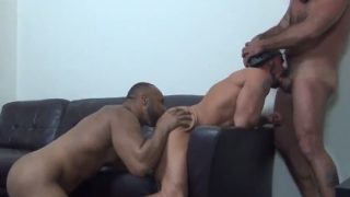 Very strong men in group sex