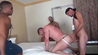 Gangbang in hotel