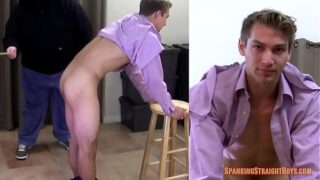 Straight Boy Gets Caned by a Gay Man in his First Adult Video